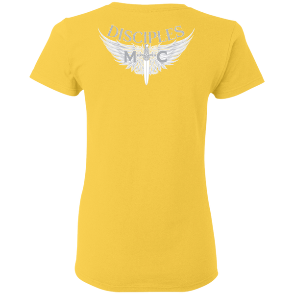 Disciples MC White Edge Gildan Ladies' T-Shirt