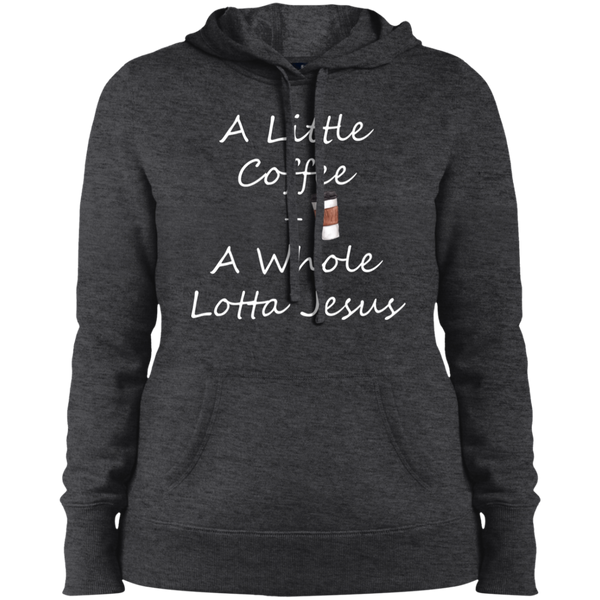COffee + Jesus Ladies' Pullover Hooded Sweatshirt