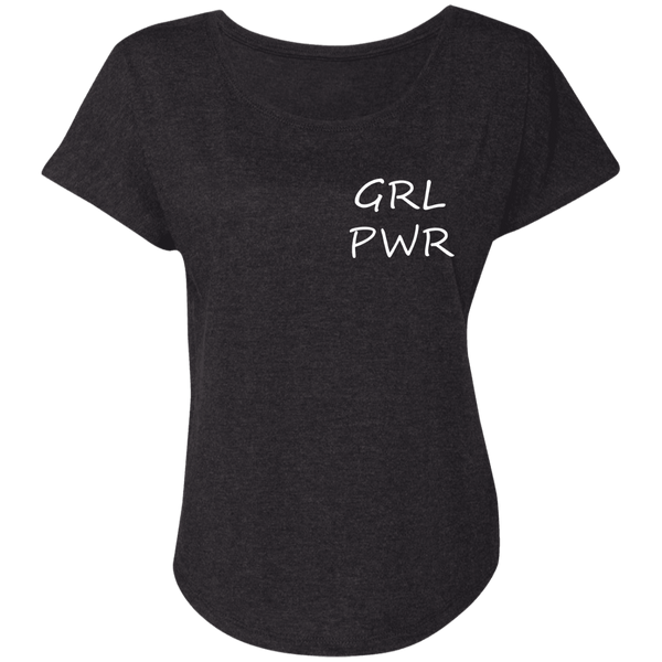 GRL PWR Ladies' Triblend Dolman Sleeve