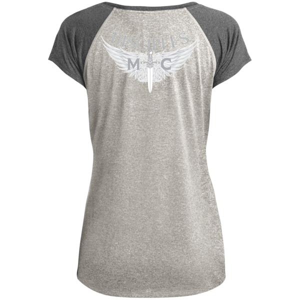 Disciples MC White Blade Ladies Performance T-Shirt