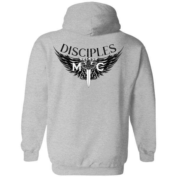 Disciples MC Black Edge Gildan Pullover Hoodie 8 oz.