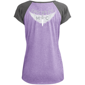 Disciples MC White Ladies Heather on Heather Performance T-Shirt