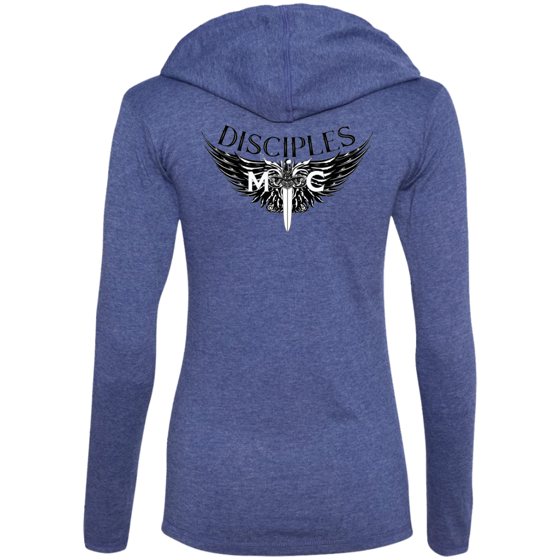 Disciples MC Black Anvil Ladies' LS T-Shirt Hoodie