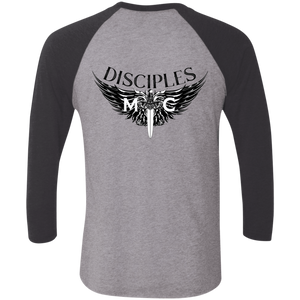 Disciples MC Black Poet Tri-Blend 3/4 Sleeve Baseball Raglan T-Shirt