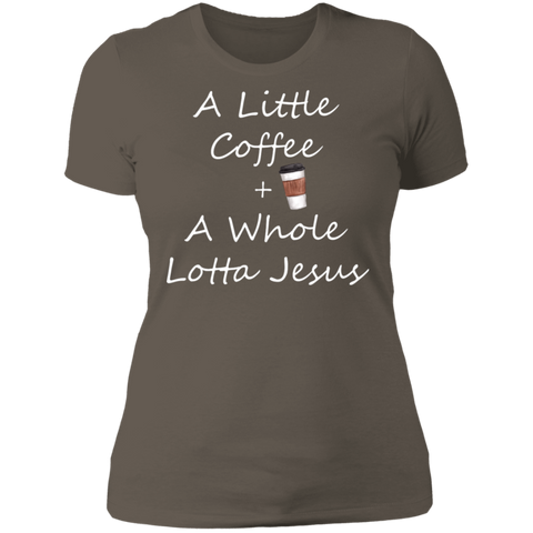 COffee + Jesus Ladies' Boyfriend T-Shirt