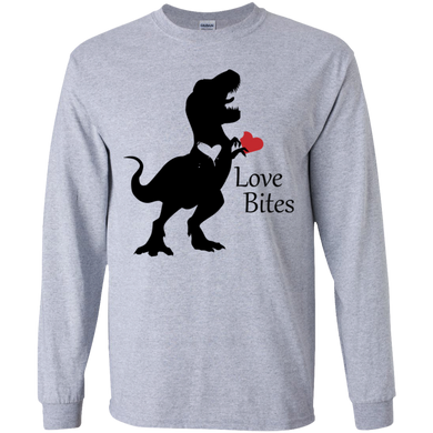 Trex Heart Gildan Youth LS T-Shirt
