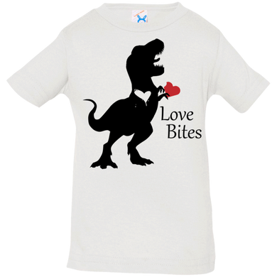 Trex Heart Rabbit Skins Infant Jersey T-Shirt