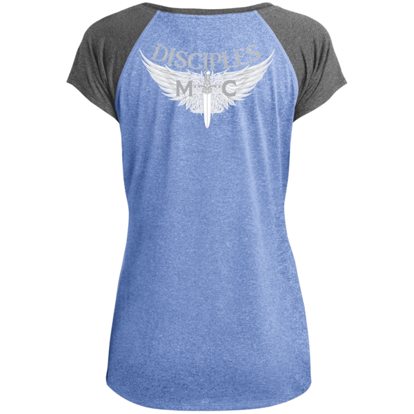 Disciples MC White Edge Ladies Performance T-Shirt