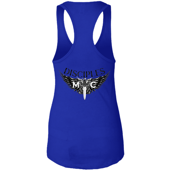 Disciples MC Black Poet Next Level Ladies Ideal Racerback Tank