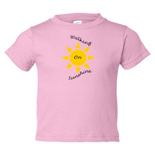 Load image into Gallery viewer, Walking On Sunshine Toddler Cotton Jersey Tee