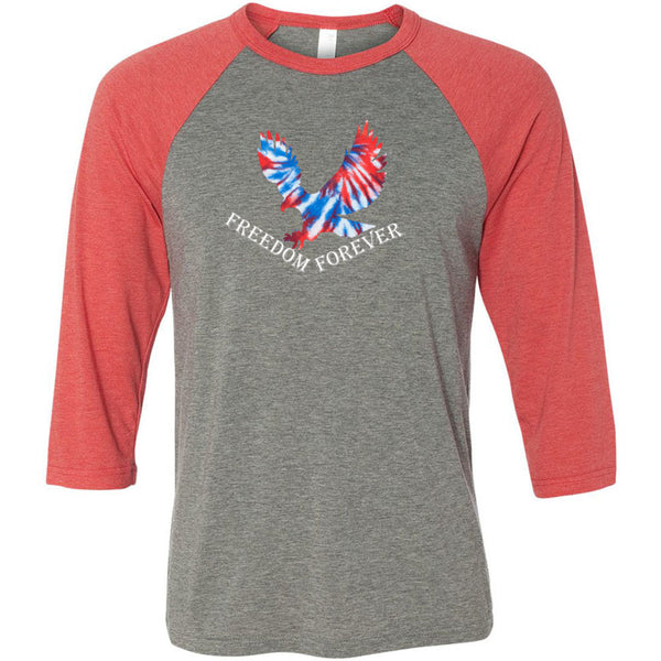 Freedom Forever Unisex Three-Quarter Sleeve Baseball T-Shirt