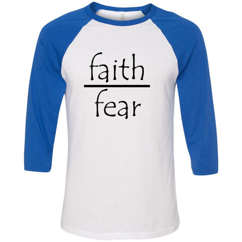 Faith Over Fear Unisex Three-Quarter Sleeve Baseball T-Shirt