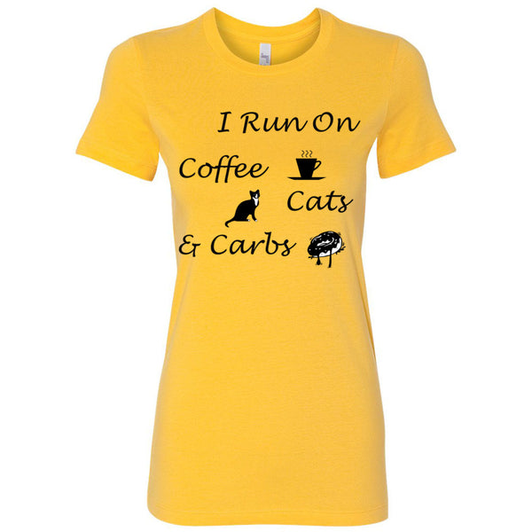 Coffee, Cats, Carbs Women's The Favorite Tee