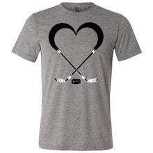 Load image into Gallery viewer, Love Hockey Unisex Triblend Short Sleeve Tee