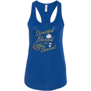 Stressed, Blessed, Obsessed Women's Ideal Racerback Tank