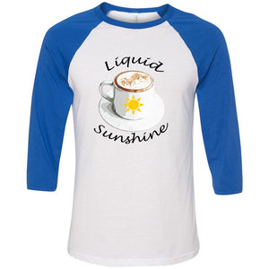 Liquid Sunshine Unisex Three-Quarter Sleeve Baseball T-Shirt