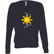 Load image into Gallery viewer, You Are My Sunshine Women's Flowy Long Sleeve Off Shoulder Tee