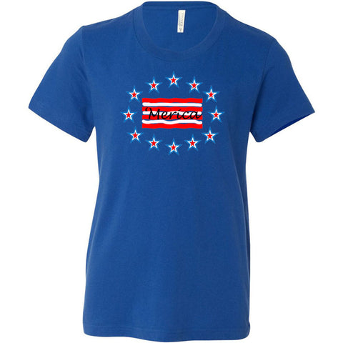 'Merica Youth Short Sleeve Crewneck Jersey Tee