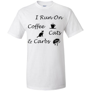 Coffee, Cats, Carbs Ultra Cotton T-Shirt