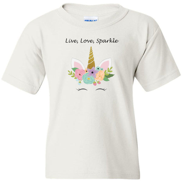 Live, Love, Sparkle Heavy Cotton Youth T-Shirt