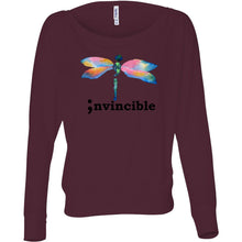 Load image into Gallery viewer, Invincible Women's Flowy Long Sleeve Off Shoulder Tee