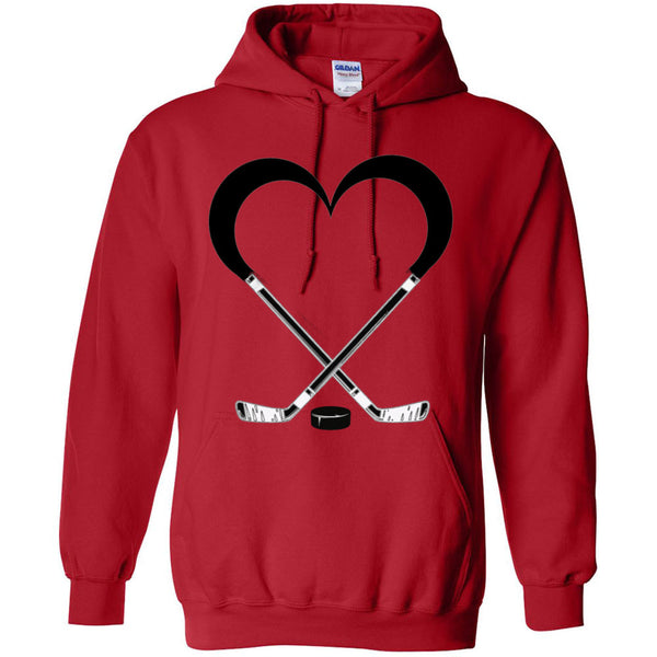 Love Hockey Heavy Blend Hooded Sweatshirt