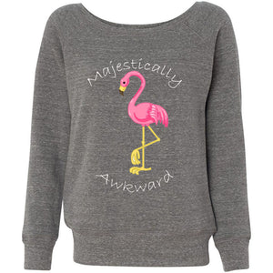 Majestically Awkward Women's Sponge Fleece Wideneck Sweatshirt