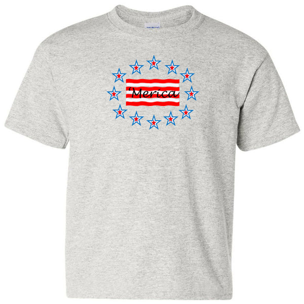 'Merica Gildan Heavy Cotton Youth T-Shirt