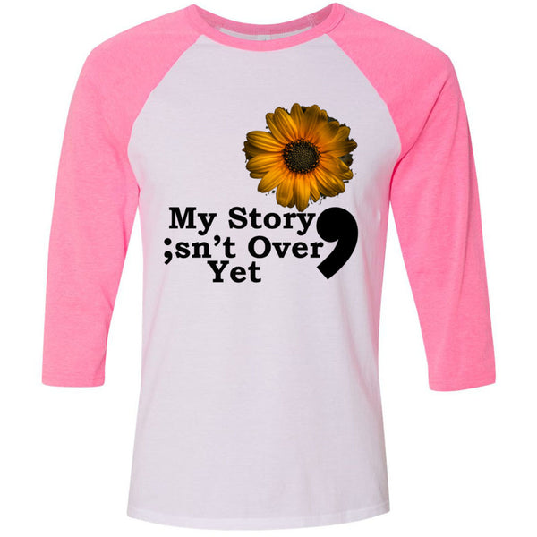 My Story Unisex Three-Quarter Sleeve Baseball T-Shirt