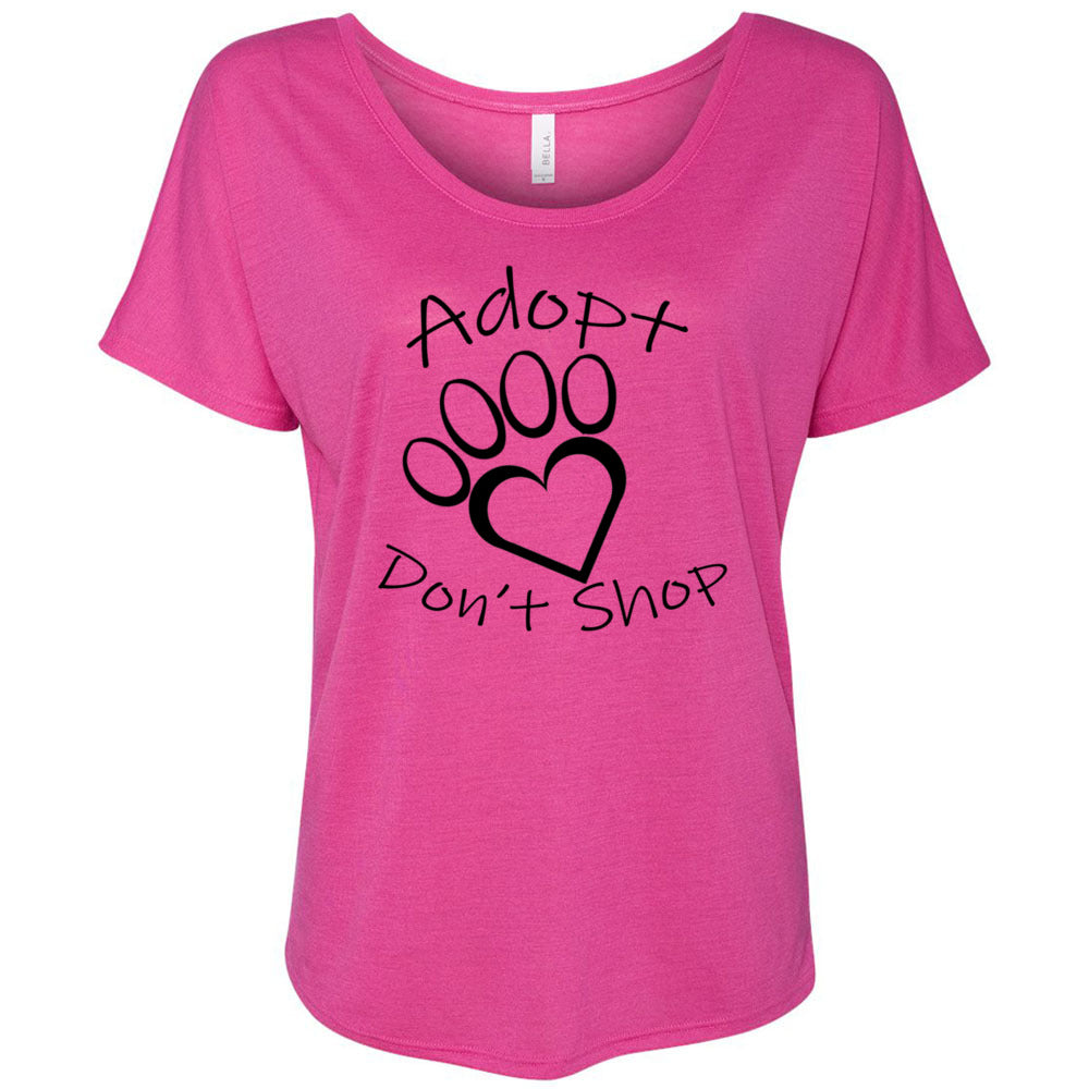 Adopt Don't Shop Women's Slouchy Tee