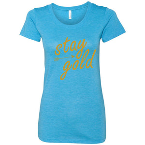Stay Gold Women's Triblend Short Sleeve Tee