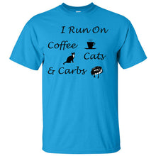 Load image into Gallery viewer, Coffee, Cats, Carbs Ultra Cotton T-Shirt