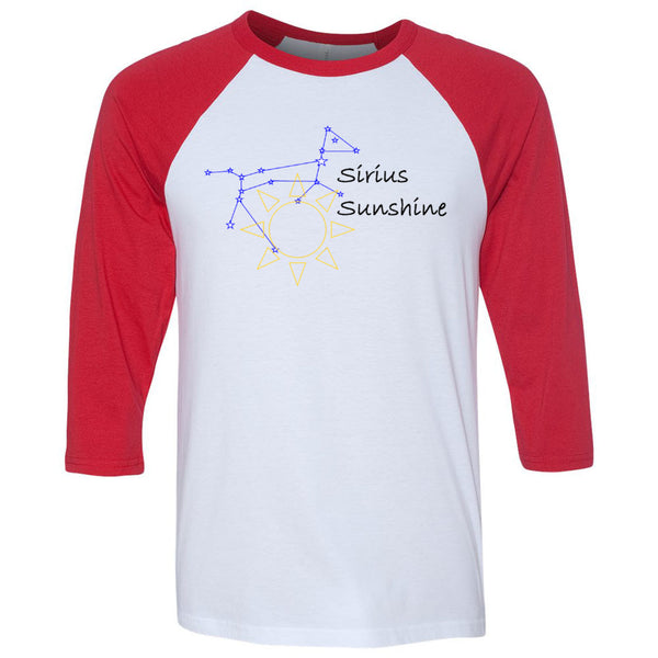 Sirius Sunshine Unisex Three-Quarter Sleeve Baseball T-Shirt