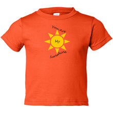 Load image into Gallery viewer, You Are My Sunshine Toddler Cotton Jersey Tee