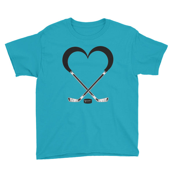 Love Hockey Anvil 990B Youth Lightweight Fashion T-Shirt with Tear Away Label