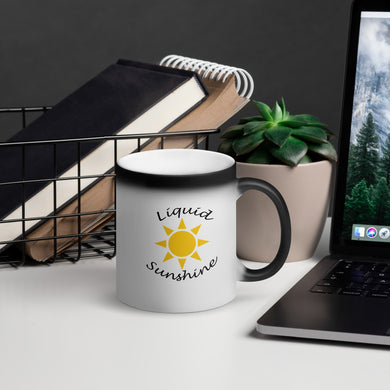 Liquid Sunshine Matte Black Magic Mug