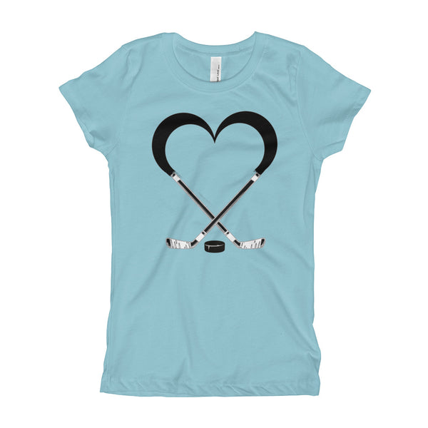 Love Hockey Next Level 3710 Girl's The Princess Tee with Tear Away Label