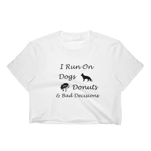 Dogs, Donuts, Decisions Women's Crop Top