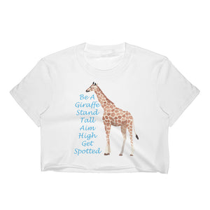 Be A Giraffe Women's Crop Top