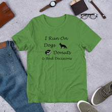 Load image into Gallery viewer, Dogs, Donuts, Decisions Short-Sleeve Unisex T-Shirt