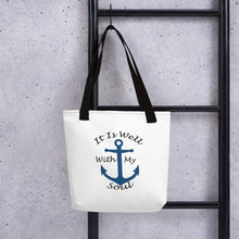 Load image into Gallery viewer, It Is Well With My Soul Tote bag