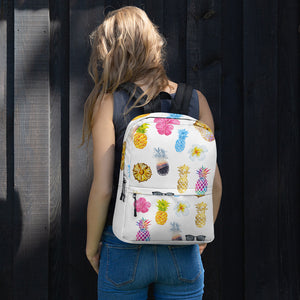Pineapple All-Over Print Backpack