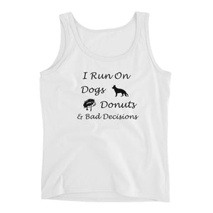 Dogs, Donuts, Decisions Ladies' Tank