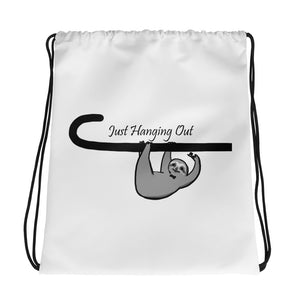 Hanging Out Drawstring bag