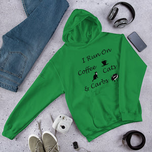 Coffee, Cats, Carbs Hooded Sweatshirt