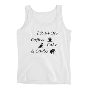 Coffee, Cats, Carbs Ladies' Tank