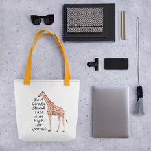 Load image into Gallery viewer, Be A Giraffe Tote bag