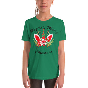 Magical, Merry Christmas Youth Short Sleeve T-Shirt