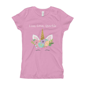 Live, Love, Sparkle Girl's T-Shirt