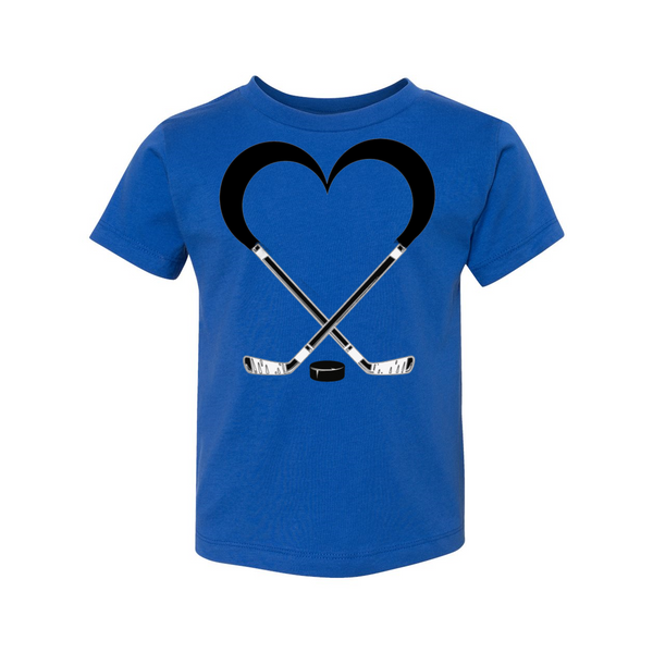 Love Hockey Toddler Short Sleeve Tee